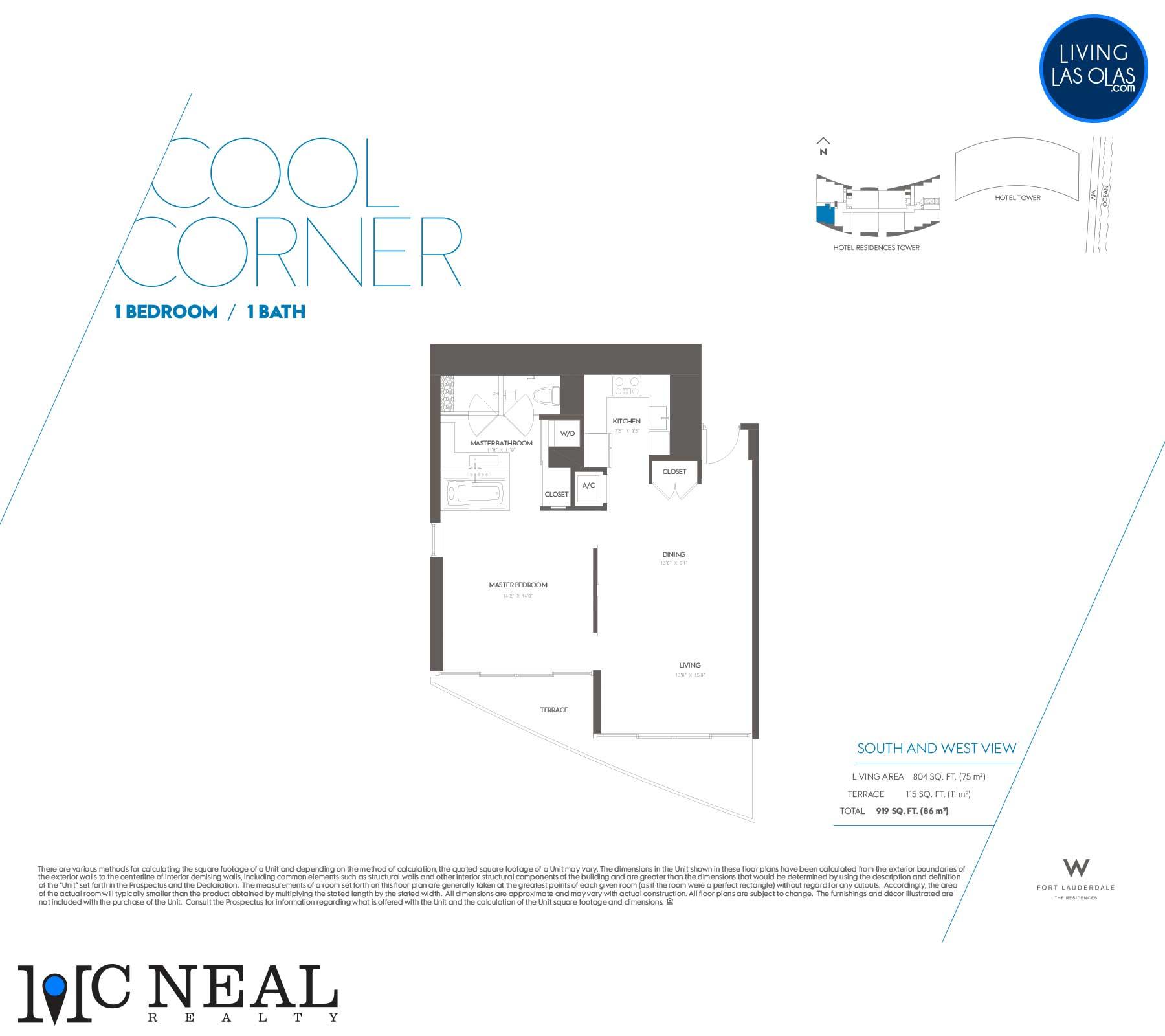 W Residences Fort Lauderdale Floor Plans Cool Corner