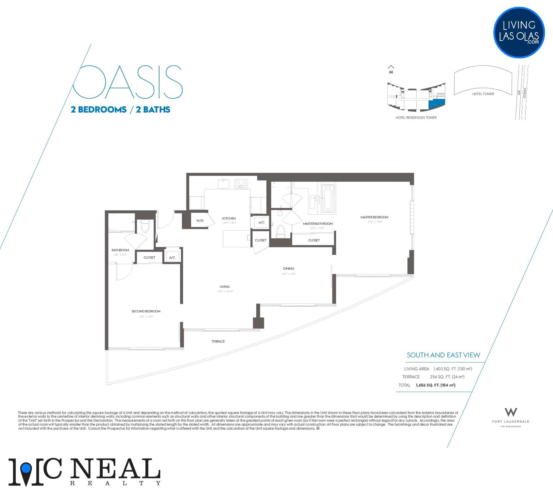 W Residences Fort Lauderdale Floor Plans Oasis