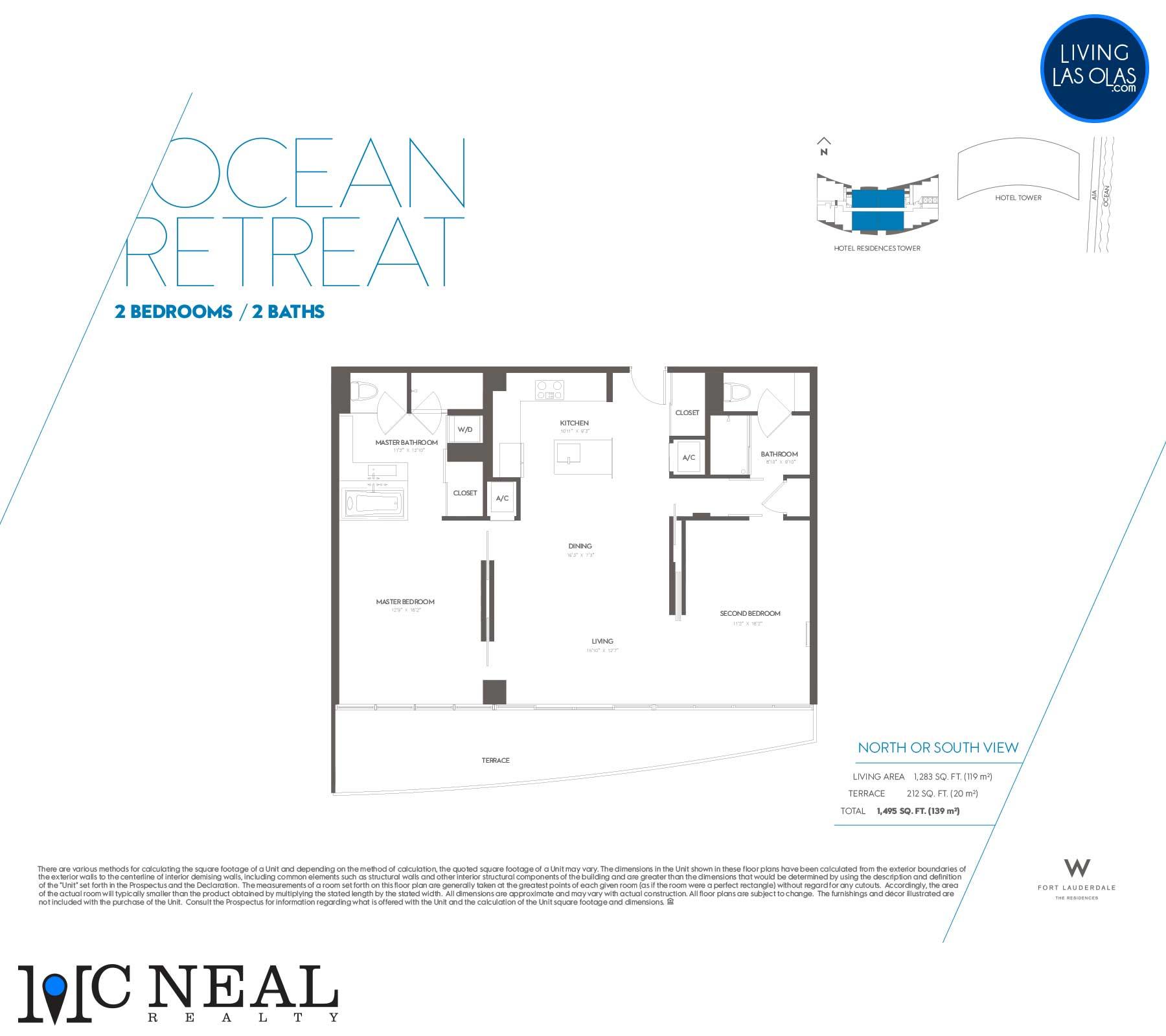 W Residences Fort Lauderdale Floor Plans Ocean Retreat