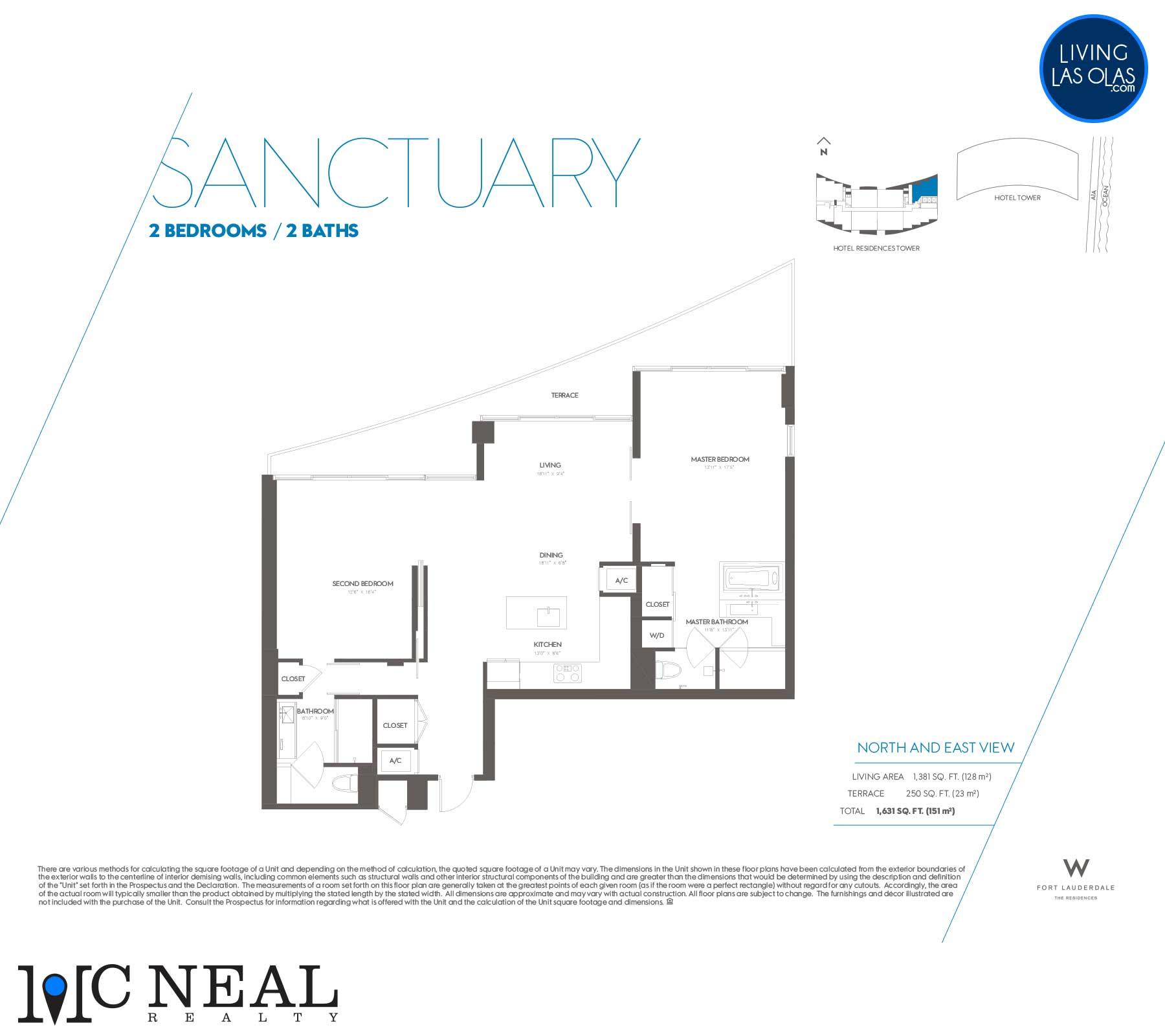 W Residences Fort Lauderdale Floor Plans Sanctuary