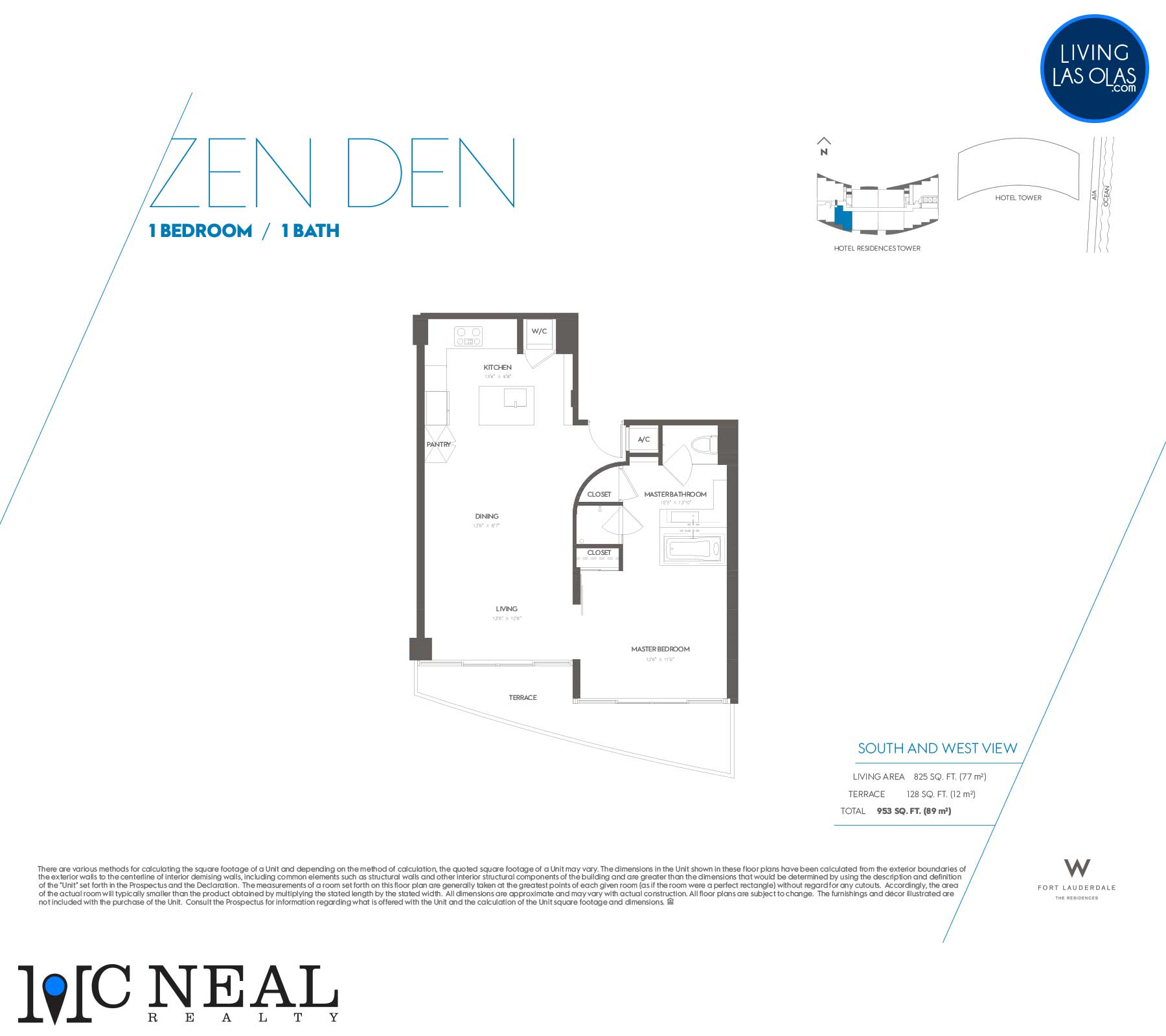 W Residences Fort Lauderdale Floor Plans Zen Den
