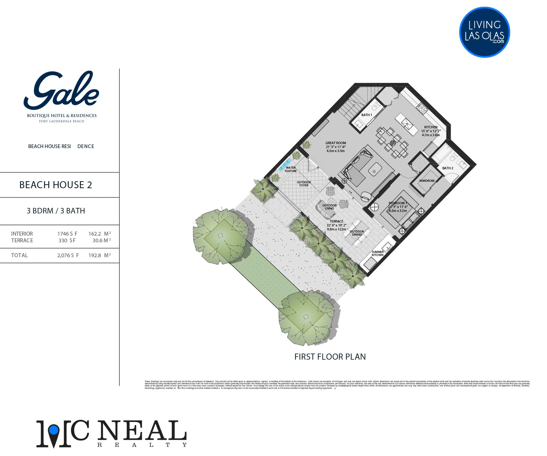Tiffany House Townhouse Floor Plans TH2-FL1