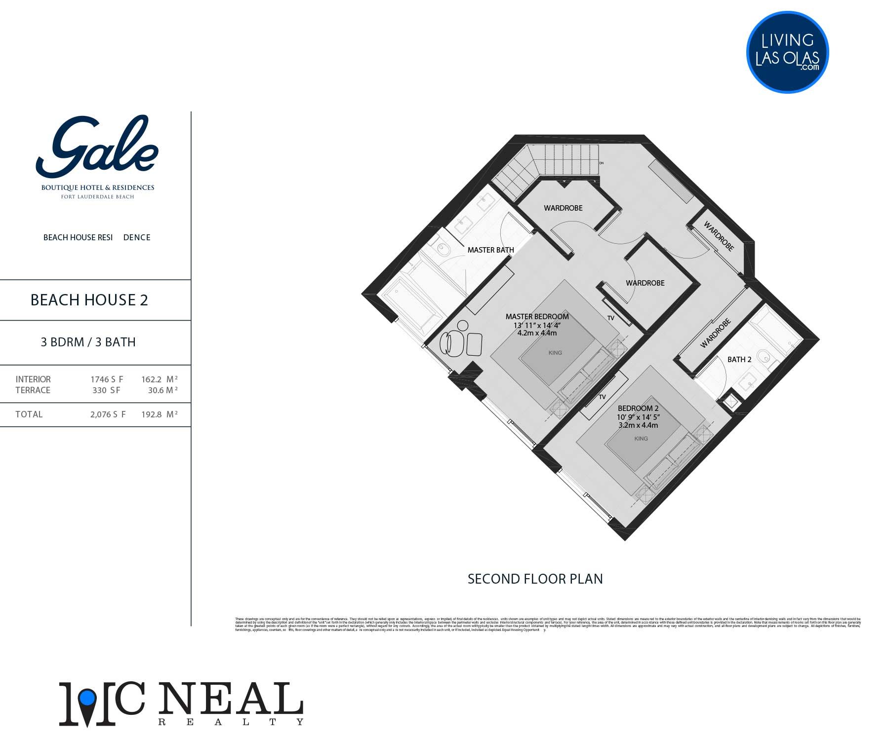 Tiffany House Townhouse Floor Plans TH2-FL2