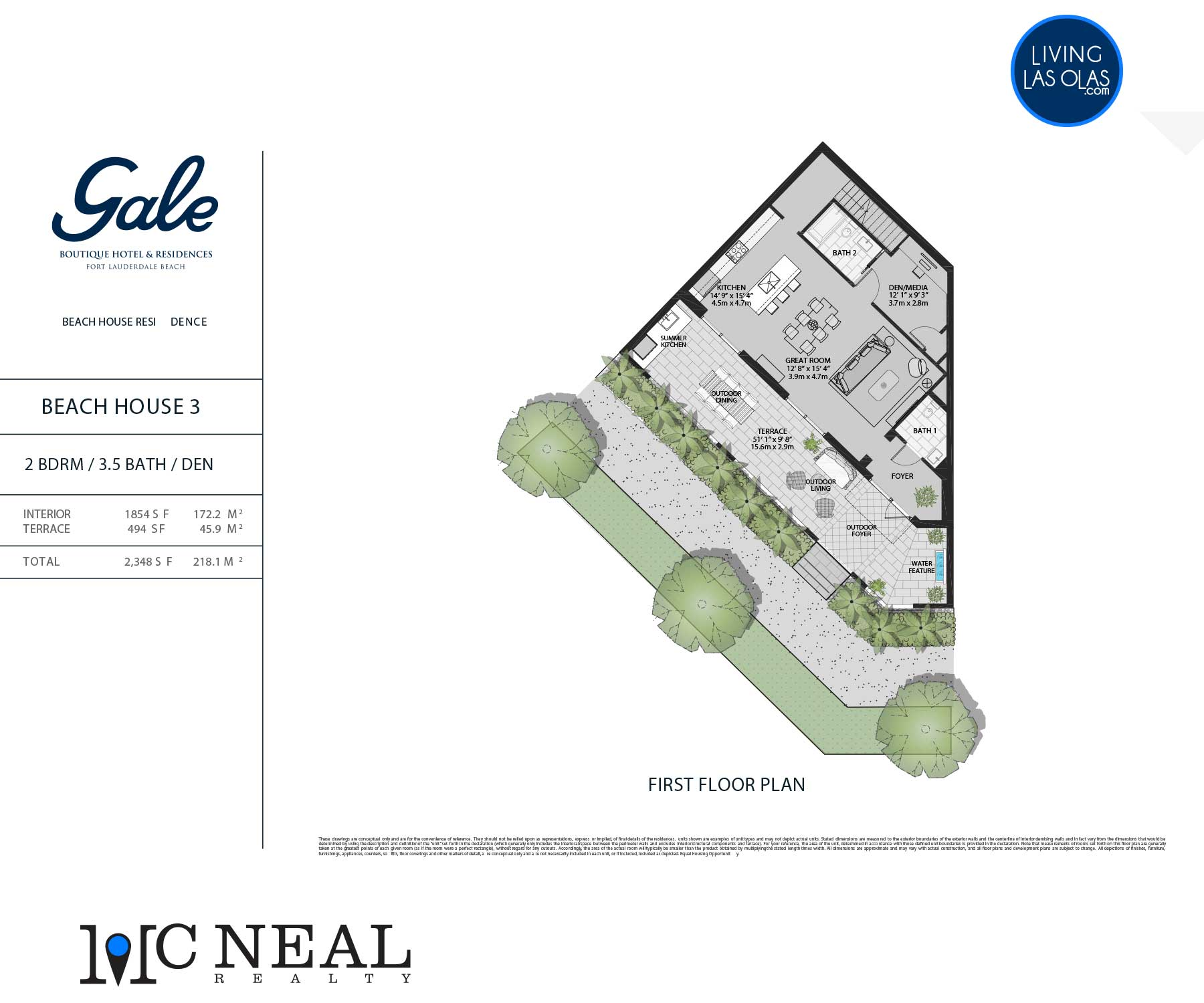 Tiffany House Townhouse Floor Plans TH3-FL1