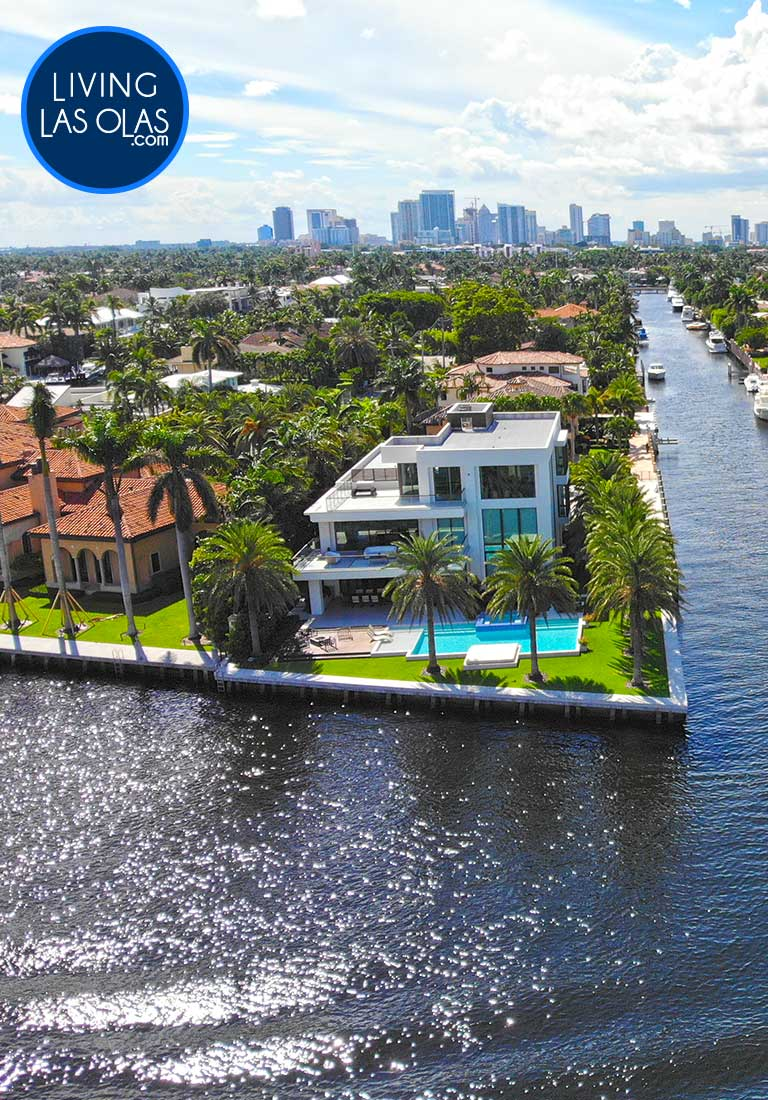 Intracoastal Front Homes Fort Lauderdale Side